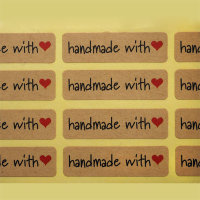 Hand made with love Наклейка